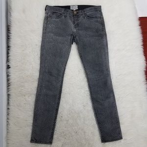 Current Elliott Ankle Skinny Mesh Jeans Sz 27 Gray